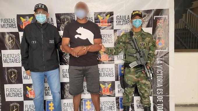Ejército Nacional capturó a presunto cabecilla de grupo delincuencial en Valledupar