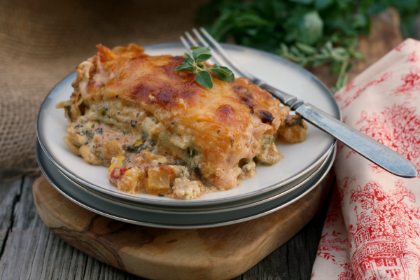 Veggie Lovers Lasagna #IHeartDreamfields #meatless