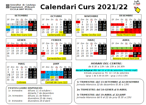 Calendari 2021/22