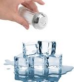 Por que se usa sal para derreter gelo?