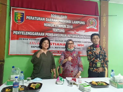 Kostiana Sosialisasikan Perda Provinsi Lampung Nomor 4 Tahun 2018