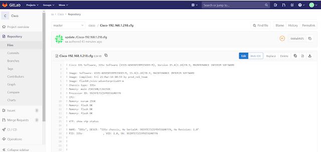 Oxidized - Cấu hình Oxidized  backup config network lên gitlab