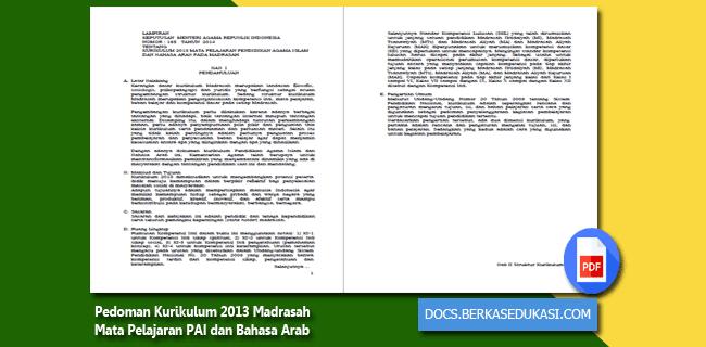 Pedoman Kurikulum 2013 Madrasah Mata Pelajaran PAI dan Bahasa Arab