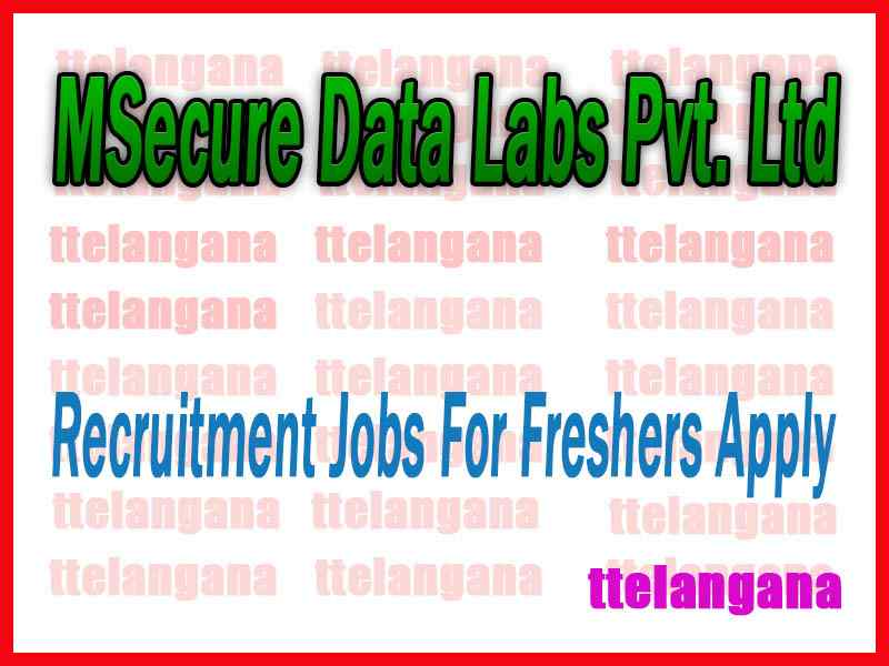 MSecure Data Labs Pvt. Ltd.Recruitment Jobs For Freshers Apply