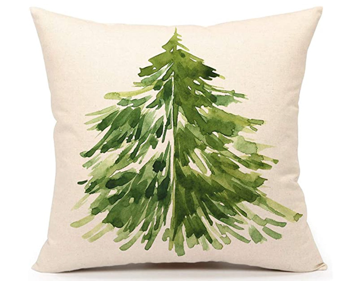Watercolor Christmas Pillow