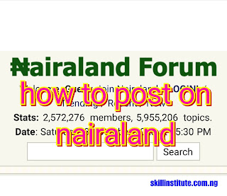 how to post on nairaland