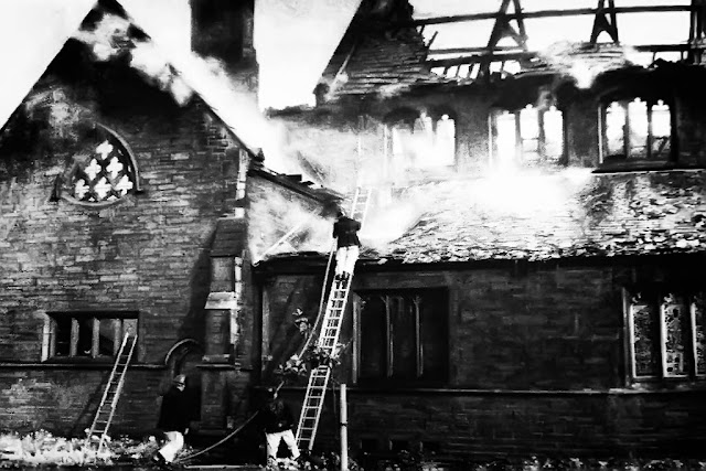 St Nicholas Church Whitehaven - Fire, 1971