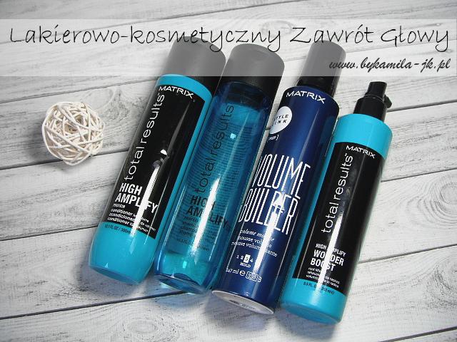 szampon odżywka spray Total Results High Amplify pianka Volume Builder