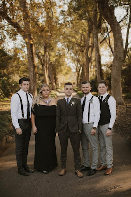 groomsmen and best woman