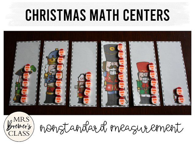 Christmas math center activities for Kindergarten and First Grade