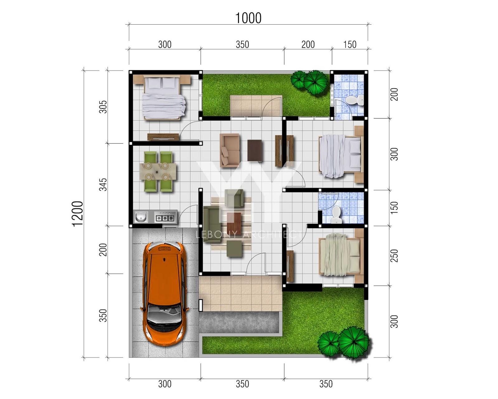 Lebony Architect Jasa Desain Rumah Mewah Rencana Desain Rumah Type 70 120 Untuk Perumahan Di Semarang