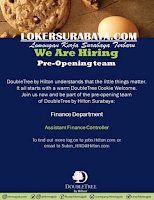 We Are Hiring at Double Tree Cookie Welcome Surabaya July 2020