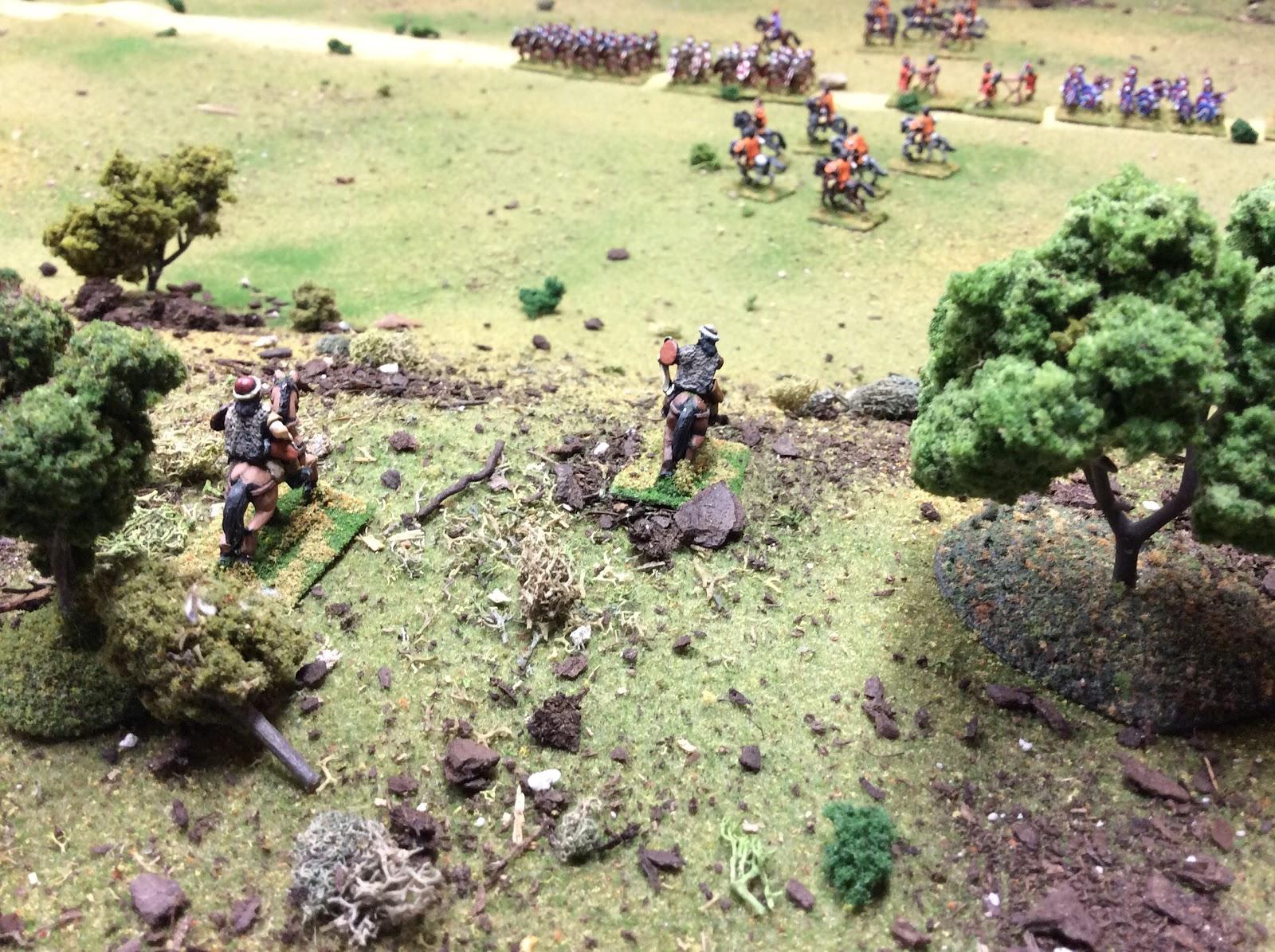 Hun scouts spot a Roman column