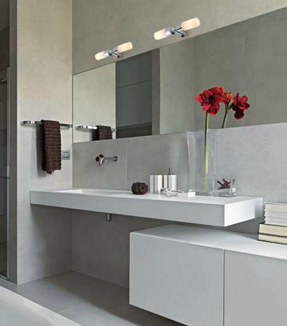 Encimera lavabo suspendido a medida reformas guaita - Muebles de lavabo a medida ...