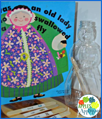 There Was an Old Lady Who Swallowed a Fly Interactive Reading Activity | Apples to Applique