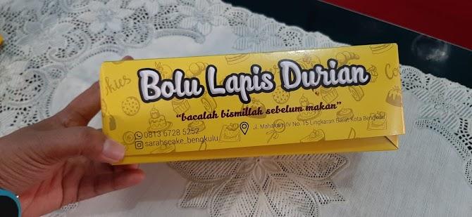 Bolu Lapis Durian Syarah Bakery, Oleh-oleh Khas Dari Bengkulu