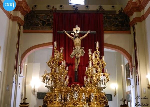 El Cristo de la Expiración del Cachorro estará en su paso recién reformado hasta el Miércoles Santo