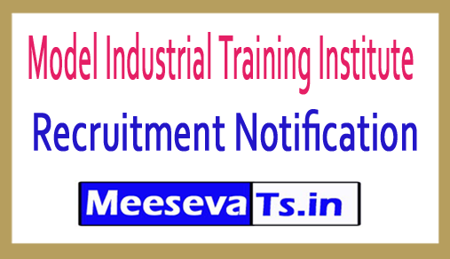 Model Industrial Training Institute Model ITI Recruitment