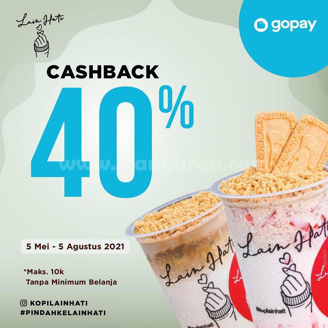 Kopi Lain Hati Promo Cashback 40% transaksi dengan GOPAY
