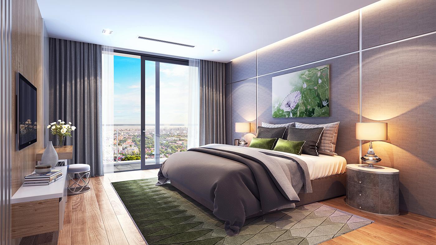 Hình ảnh phòng ngủ dự án Hinode City