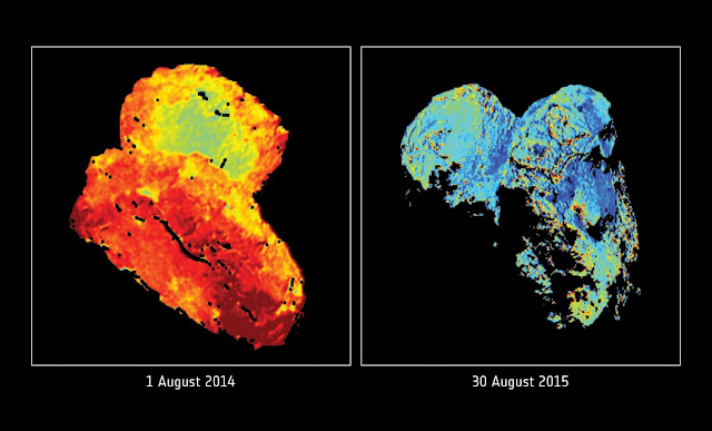 Icy surprises at Rosetta's comet