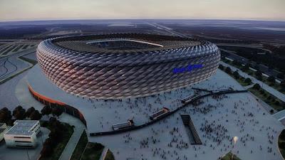 PES 2020 Stadium Aerial View Olimpico + Allianz Arena (Euro Mode) + Update Signal Iduna Park by Jostike