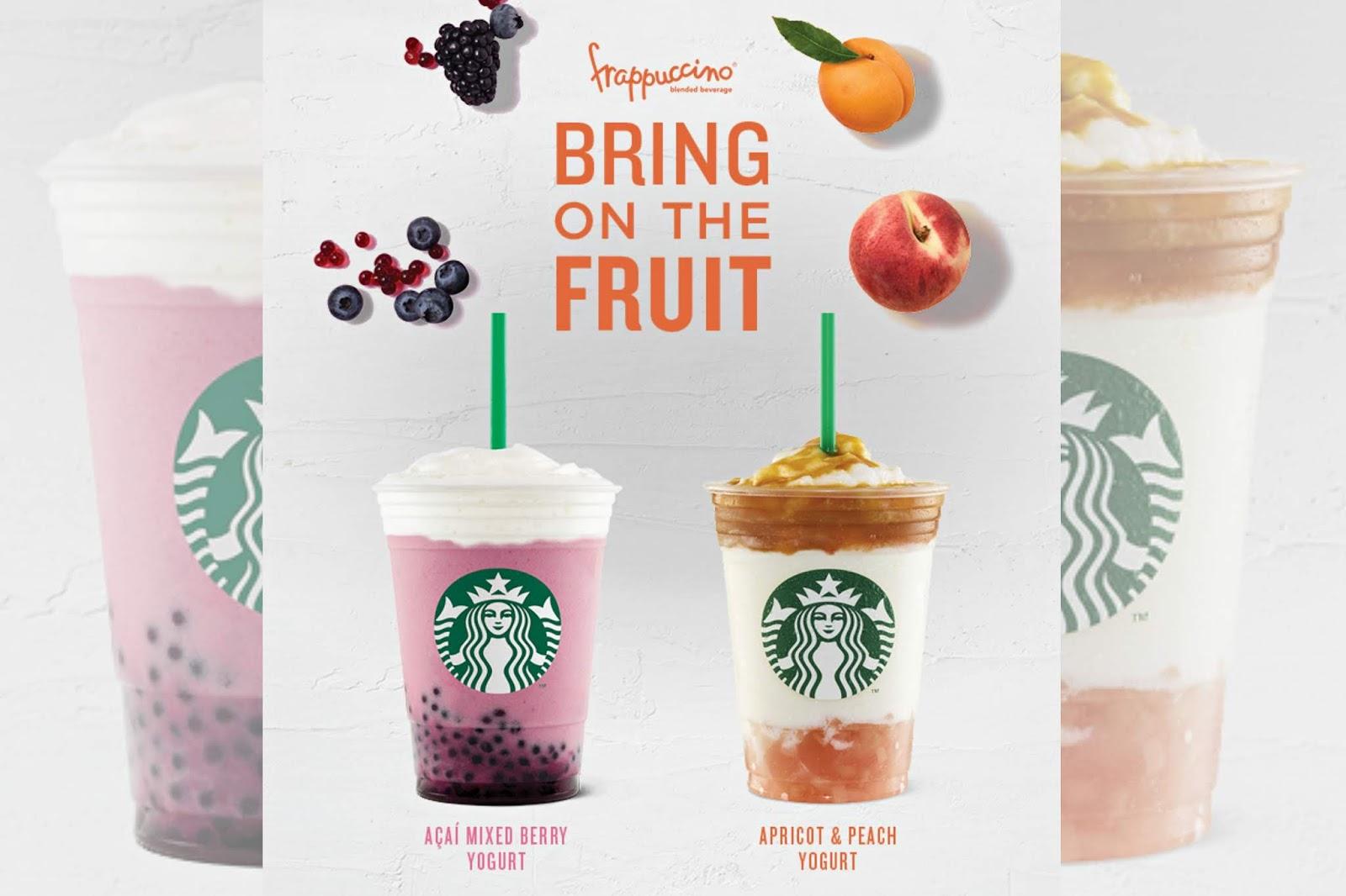 Starbucks new fruit-forward blended beverages