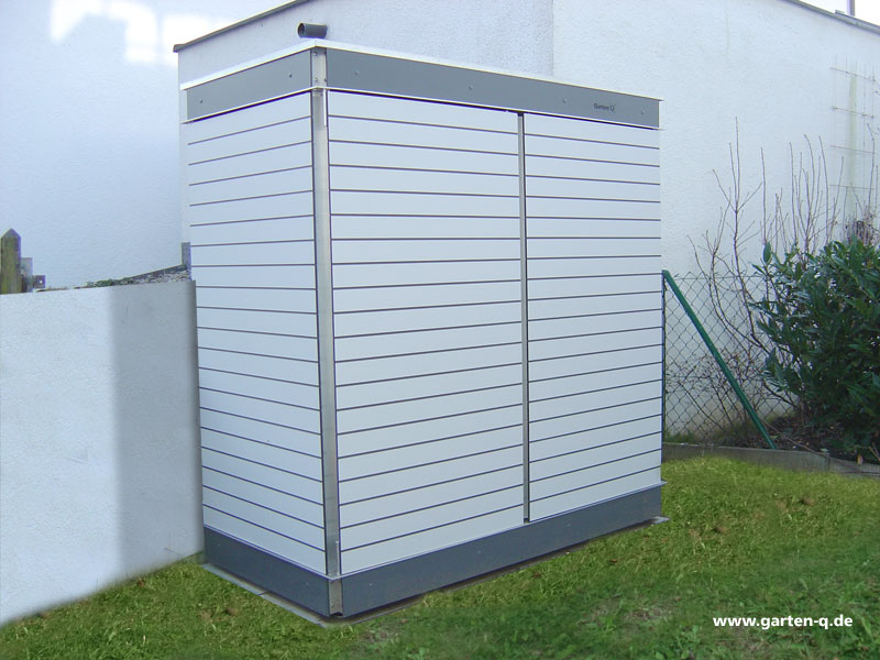 Garten q moderne gartenh user gartenschr nke m llboxen und unterst nde gartenhaus for Kunststoff tiere fur garten
