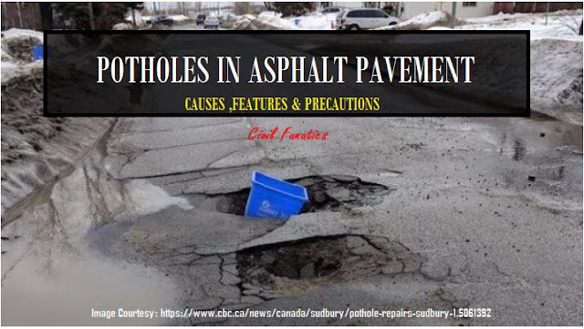 Potholes in Asphalt Pavements and Driveway - Causes