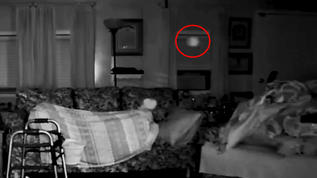 Orbe grabado moviéndose a través de la sala de estar, posible entidad alienígena, 20/10/2020