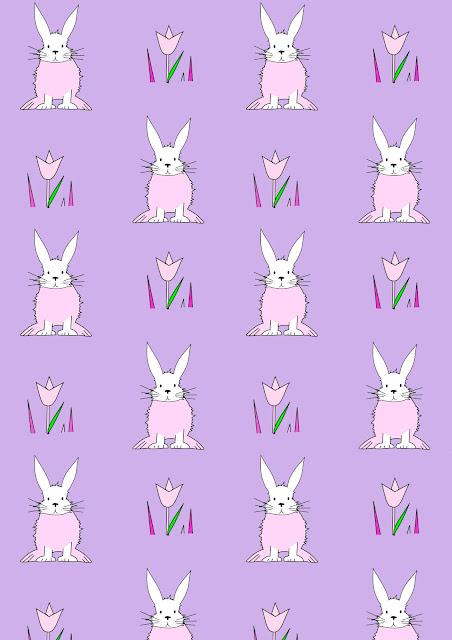 Free digital bunny scrapbooking paper - Osterpapier - freebie