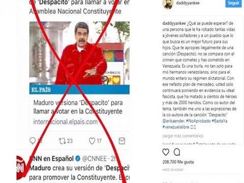LUIS FONSI REPROCHA A MADURO POR USAR DESPACITO CON FINES POLÍTICOS