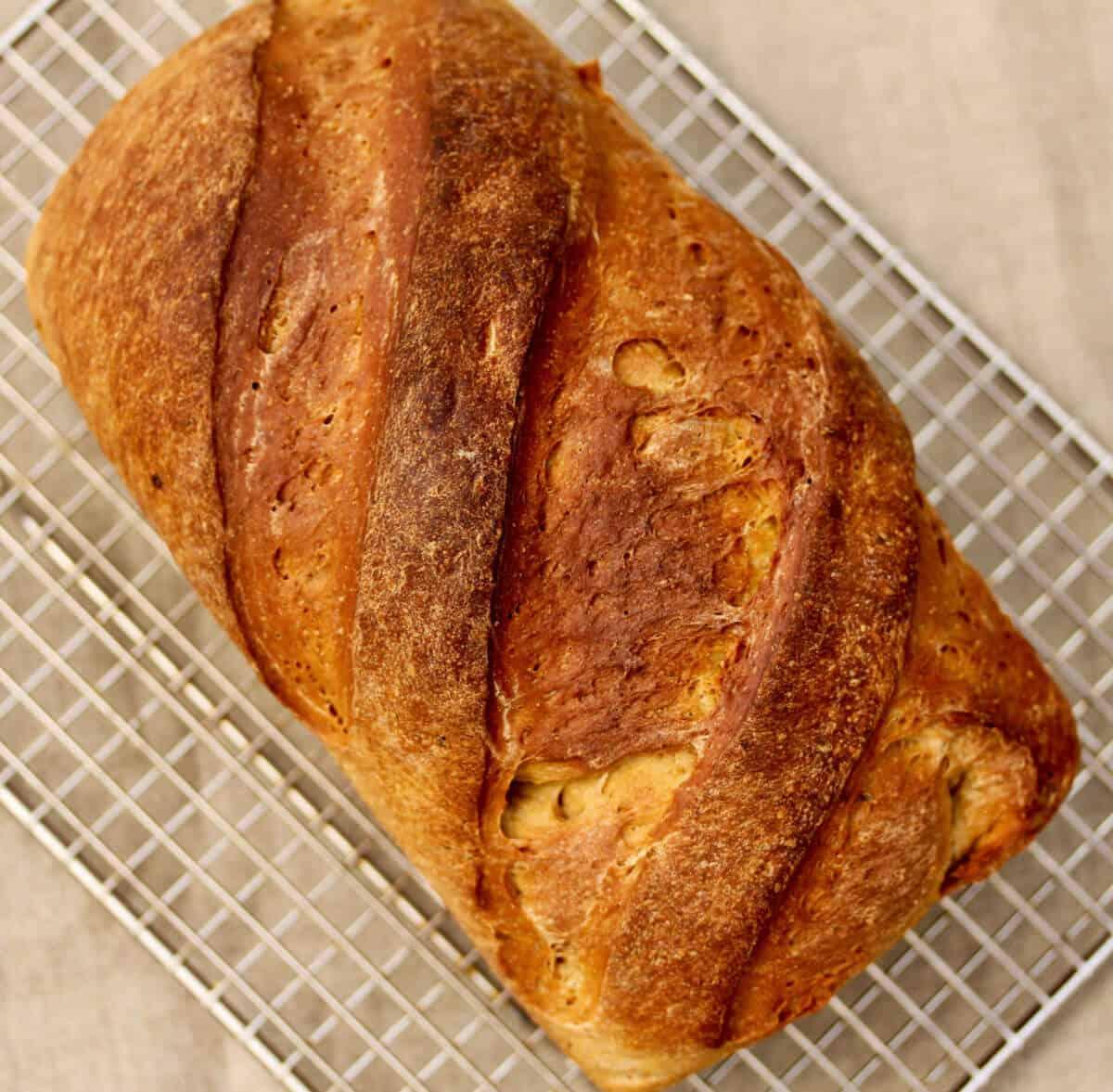 Swedish rye bread top.