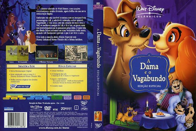Capa DVD A Dama e o Vagabundo