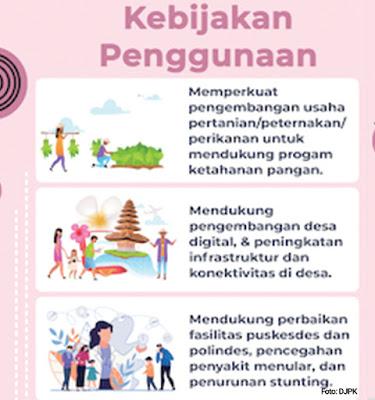 Penggunaan Dana Desa Tahun 2021