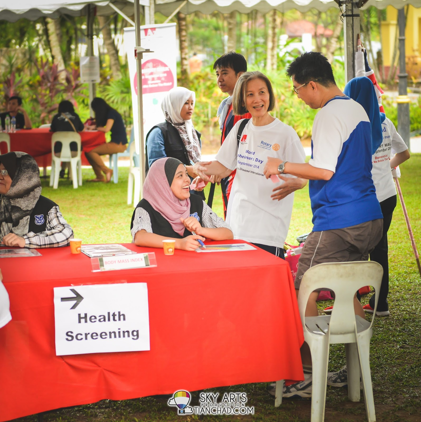Free Health Screening during the morning walk