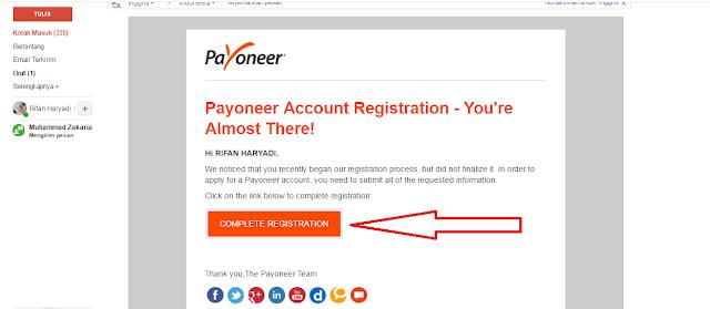 sukses membuat akun payoneer