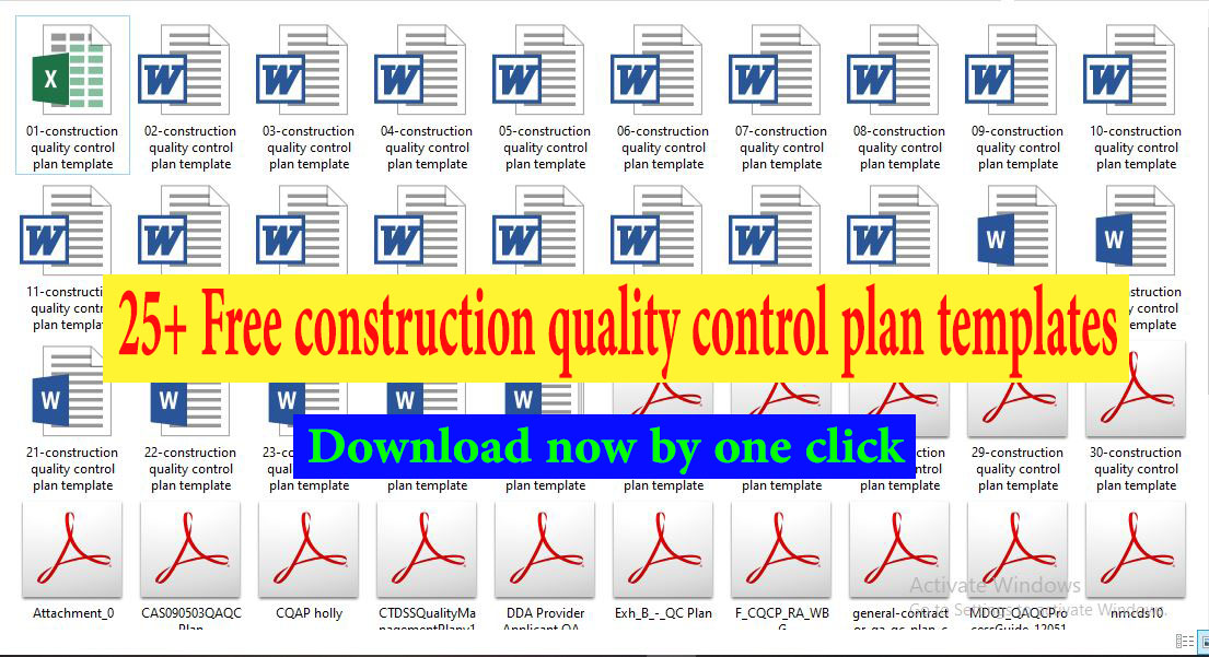 25+ Free construction quality control plan templates