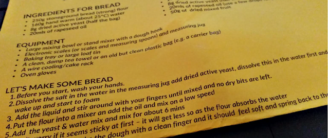 Instructions for making bread