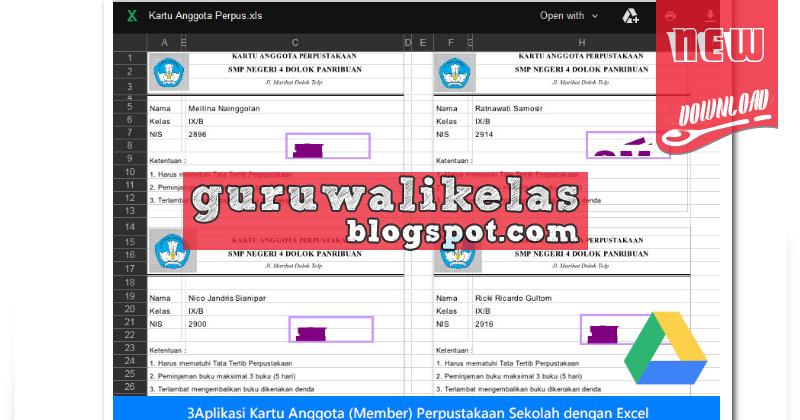 Download Aplikasi Kartu Anggota (Member) Perpustakaan ...