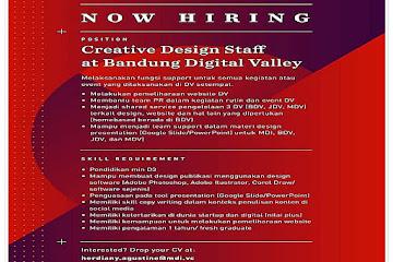 Lowongan Kerja Creative Design Staff Bandung Digital Valley