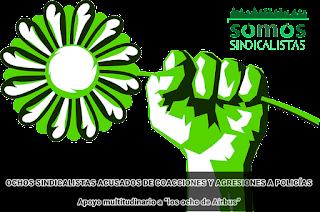 OCHOS SINDICALISTAS ACUSADOS DE COACCIONES Y AGRESIONES A POLICÍAS