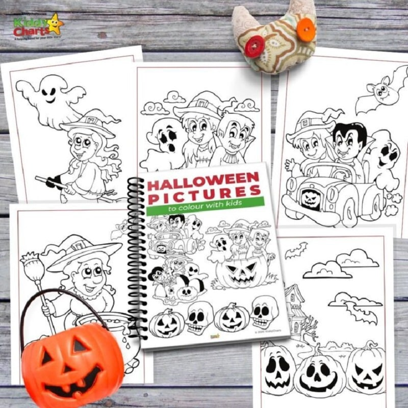 free printable halloween colouring in ebook