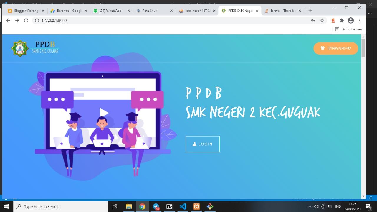 Source Code Aplikasi PPDB SMK Laravel