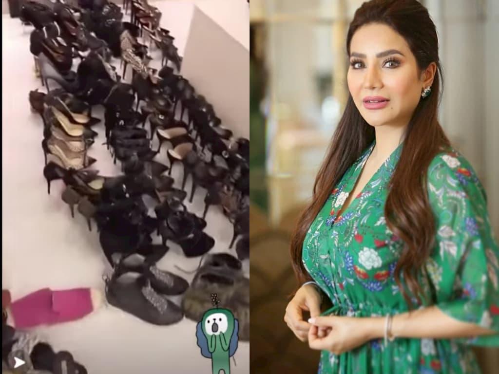 أحذية لجين عمران تثير الجدل في مواقع التواصل الاجتماعي