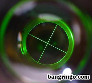 Lampu hijau pada Reticle pada Comet 3-9x40 AOE