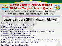 Lowongan Kerja Yayasan Nurul Quran Sumbar (Ditutup 23 Juni 2017)