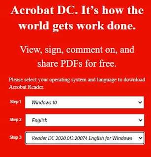 spesifikasi instal adobe acrobat reader