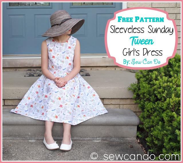 Tween Girl's Sleeveless Dress - Free Sewing Pattern