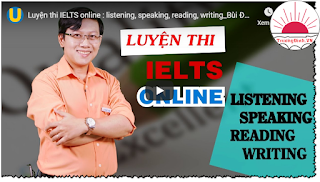 Miễn phí khóa học: Luyện thi IELTS online: listening, speaking, reading, writing
